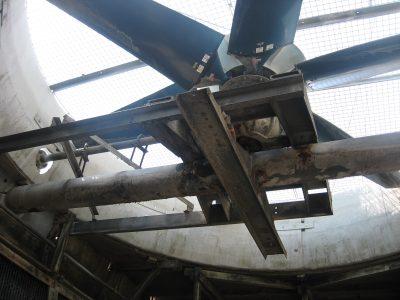 Crossflow Tower interior view of fan from below