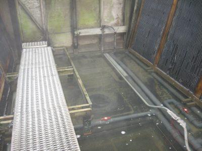 Crossflow Tower Basin Prior to Repair