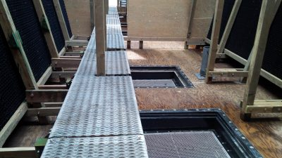 Crossflow Tower interior basin and fill